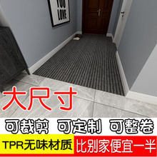 进门地tu门口门垫防ie家用厨房地毯进户门吸水入户门厅可裁剪