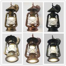 壁灯复tu马灯老式铁ar吊灯新式LED户外庭院防水灯具新