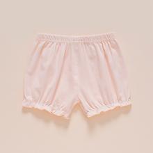 女宝宝tu棉灯笼短裤ltpp裤女(小)童南瓜裤夏季休闲0-1-3岁薄式