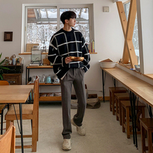 MRCtuC男士慵懒lt韩款宽松套头针织衫学生个性外套潮