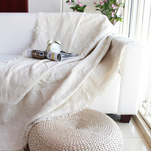 包邮外tu原单纯色素ke防尘保护罩三的巾盖毯线毯子