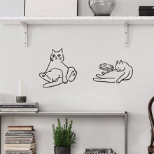 北欧itus猫星的可un简笔画宠物店铺宝宝房间布置装饰墙上贴纸