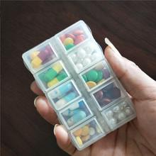 独立盖tu品 随身便ha(小)药盒 一件包邮迷你日本分格分装