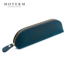 MOTEtu1M复古头io工笔袋简约设计疯马皮个性创意韩国文具袋