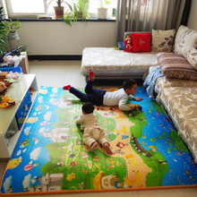 可折叠tu地铺睡垫榻io沫厚懒的垫子双的地垫自动加厚防潮