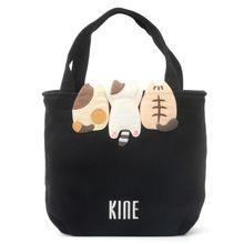 日本设tuKINE猫ux可爱纯棉(小)手提包便当包女士轻便逛街散步包