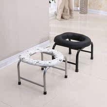 不锈凳tu折叠坐便器no桶移动老的蹲坑家用改可折叠孕妇椅女用
