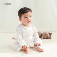 aqptu 新式婴儿no薄蝴蝶哈衣0-6月新生儿宝宝绑带连体衣和尚服