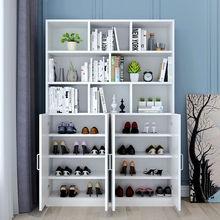 鞋柜书柜一体多tw能带书架组hy家用轻奢阳台靠墙防晒柜