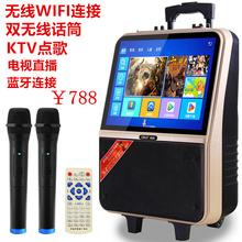先科新tw纪19寸广tt杆视频机音响便携式户外音箱播放器15寸屏