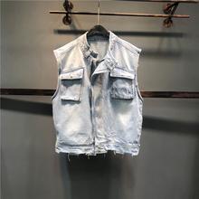 韩款21新款百搭tw5仔背心马fa时尚宽松bf风修身个性外套上衣
