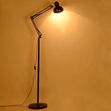 立式折ty落地灯 美de沙发过道智能卧室LED护眼遥控落地台灯