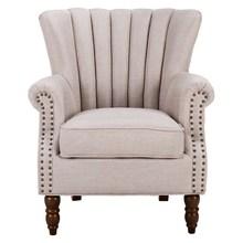 单的沙ty美式老虎椅dk的组合(小)户型休闲懒的卧室阳台客厅布艺