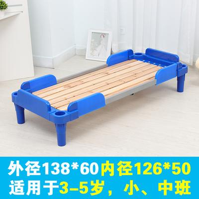 塑料午ty床加厚单的hz叠床宝宝专用(小)床10个包邮