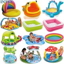 包邮送ty送球 正品ahEX�I婴儿充气游泳池戏水池浴盆沙池海洋球池
