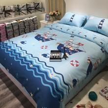 男孩卡tz纯棉四件套ro被套宝宝床上用品全棉床单1.2m床三件套