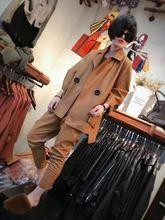 欧洲站ub020冬季po衣女士中长式时尚潮流百搭韩款外套pu皮上衣