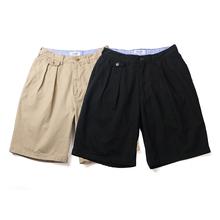 PALAND 双褶宽ub7短裤 全po潮日系日本韩国工装街头卡其裤