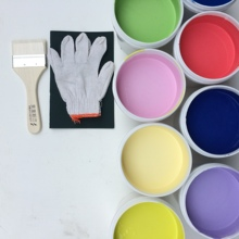 彩色内ub漆调色水性po胶漆墙面净味涂料灰蓝色红黄蓝绿紫墙漆
