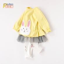 清仓 uf-4岁公主tr装女婴儿衣服可爱春秋薄式春夏装