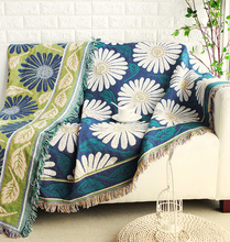 美式沙uf毯出口全盖tr发巾线毯子布艺加厚防尘垫沙发罩