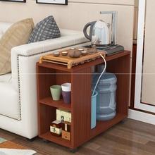 可带滑uf(小)茶几茶台tr物架放烧水壶的(小)桌子活动茶台柜子