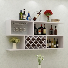 现代简un红酒架墙上fr创意客厅酒格墙壁装饰悬挂式置物架