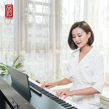 宝宝专un品邦钢琴8fr锤智能家用成的初学者数码电子电刚