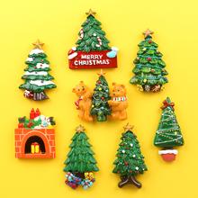 可爱立un树脂圣诞树qu磁贴创意留言贴装饰品宝宝早教贴