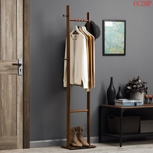 淘之良品多功能卧un5客厅实木te落地挂衣架室内简易直立式