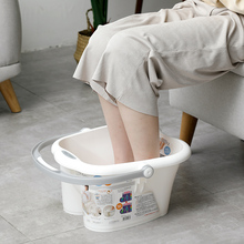 日本原un进口足浴桶ve脚盆加厚家用足疗泡脚盆足底按摩器