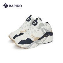 RAPunDO FUun名 雳霹道秋季情侣式男女中帮柔软加绒休闲运动鞋