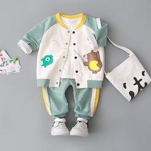 乐努比男童宝宝春装外套装一0-un12-3周un服春秋洋气(小)童装2