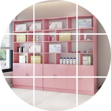 化妆品un示柜展柜货ma店美容院柜子护肤品美甲产品货架展示架