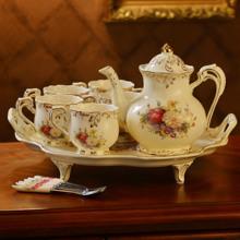 欧式陶瓷家用茶具冷水un7咖啡杯套lb凉水壶大容量凉茶壶茶壶