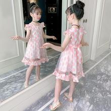 宝宝装夏装女童条纹un6衣裙4短lb童夏裙子7公主8(小)孩子10岁12