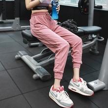 运动裤un长裤宽松(小)lb速干裤束脚跑步瑜伽健身裤舞蹈秋冬卫裤