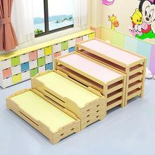 托管班us学生午睡床tz木木质叠叠床特价幼儿园专用床