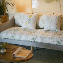 雨朵美式乡村全棉沙发垫布艺ut10季通用rl合沙发套巾罩全盖