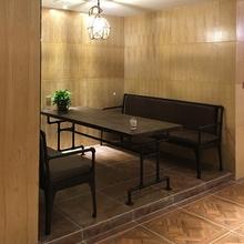 美式复uu铁艺沙发创56风客厅酒吧餐厅卡座三的靠背椅