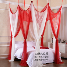 吊顶床v5百变八开门nc粘钩式加密1.8m床家用懒的加厚加大蚊帐