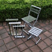 靠背凳va椅外出简约ar游伸缩休闲椅不锈钢马扎椅子老年布带庭