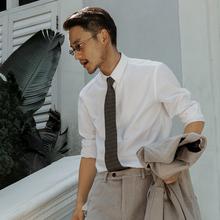 SOARIN英伦复古高级感白衬va12男 法fr休闲工作服长袖衬衣