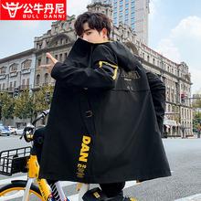 BULva0 DANit牛丹尼男士风衣中长式韩款宽松休闲痞帅外套秋冬季