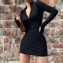 Sisvauly 日it修身设计感拉链女 超显身材的包臀裙