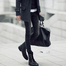 潮牌黑vd雪花洗水紧be裤男生韩款修身弹力(小)脚长裤铅笔裤靴裤