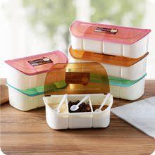 创意厨ve用品储物器mq塑料调味罐调味盒套装多用途分格调料瓶