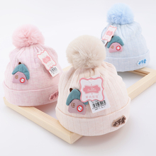 [vecom]新生儿胎帽纯棉0-3-6