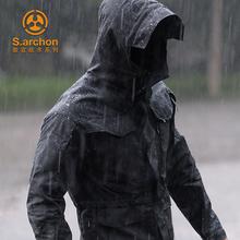 春秋谍ve战术外套男ac军款迷彩战地中长式防水户外冲锋衣服