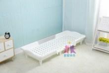 幼儿园ve睡塑料简易mo用宝宝单的拼接(小)学生宝宝托管折叠(小)床